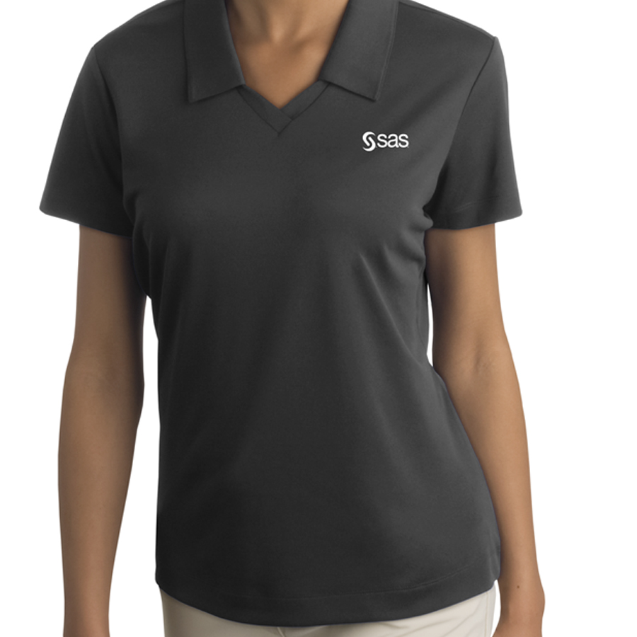 Sas company store women 39 s nike golf dri fit micro pique polo for Women s dri fit golf shirts
