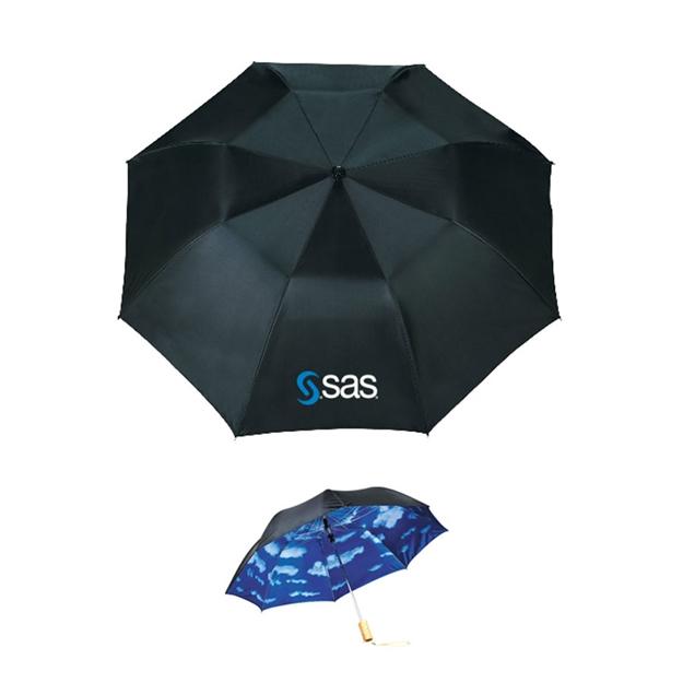 "Picture of 46"" Blue Skies Auto Open Folding Umbrella"