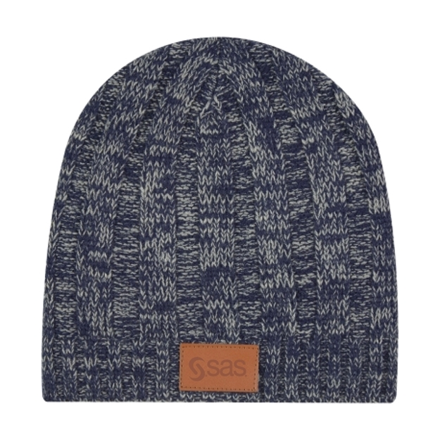 Picture of Knit Beanie with Leather Patch