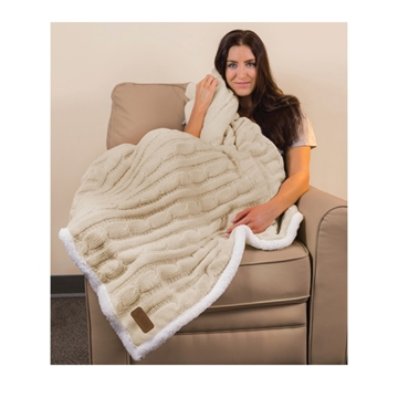 Picture of Cable Knit Chenille Throw