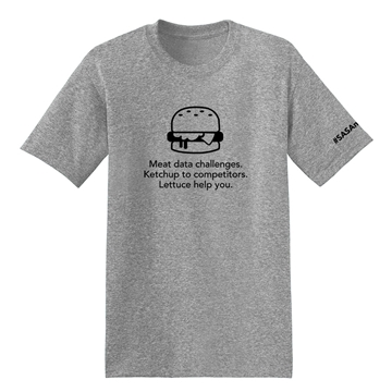 Picture of Unisex T-shirt - Burger #SASAnalytics